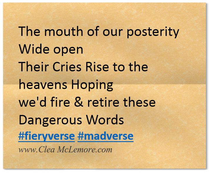 Twitter Micropoem by Clea McLemore, Cries Rise