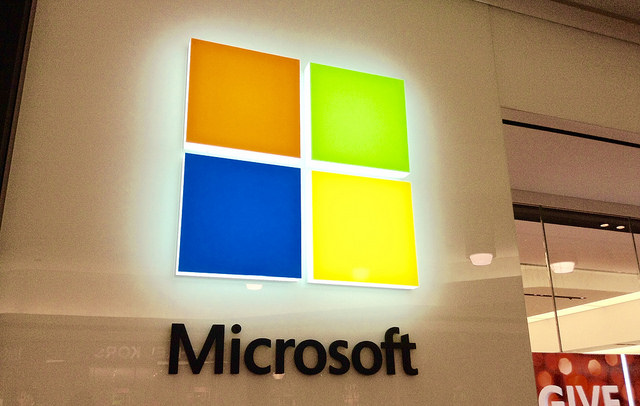 Microsoft Logo, by Mike Mozart