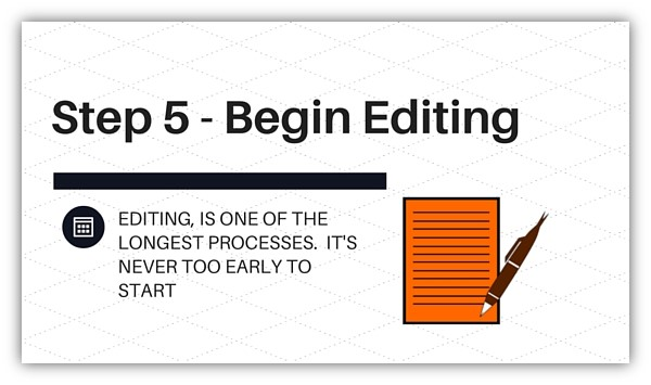 Step 5 - Begin Editing