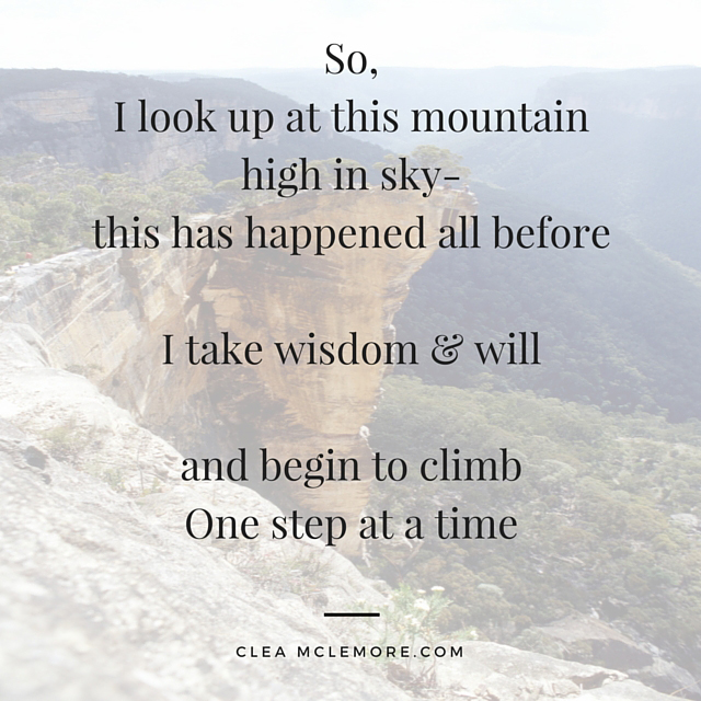 1 Step at a Time, by Clea McLemore