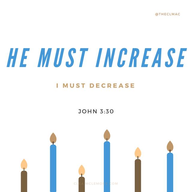 He Must Increase, John 3:30