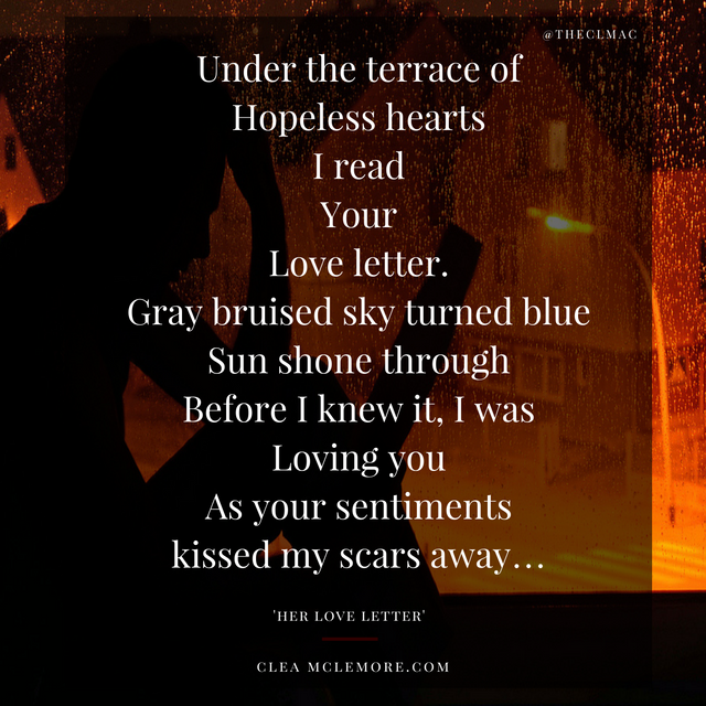 Her Love Letter A Poem Clea McLemore – Love Letter for Her