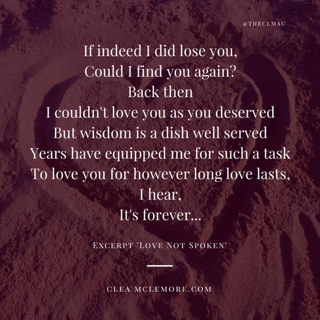 Love Not Spoken, by Clea McLemore