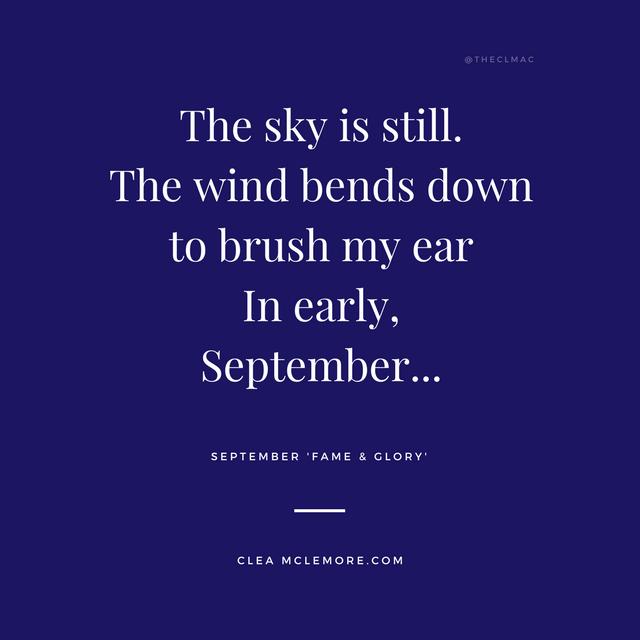 September, Excerpt - Fame & Glory