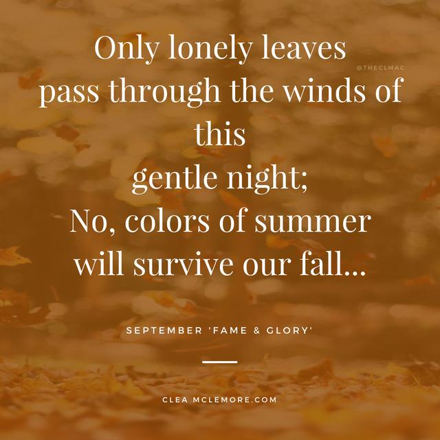 September, Lonely Leaves