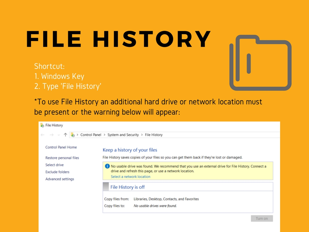 File History Screen Clipping
